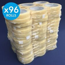 96 x Rolls Clear Premium Quality Parcel Packing Tape Sellotape / 19mm x 66m