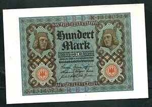 Germany (P69b) 100 Mark 1920 UNC