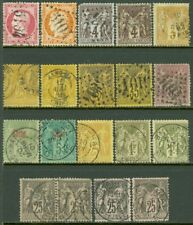 EDW1949SELL : FRENCH OFFICES IN CHINA Nice collection of 17 singles & 1 pair.