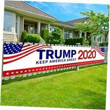 "Kmuysl Trump 2020 Flag Keep America Great Yard Sign Extra Large 98"" x 20"""