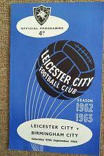Leicester City v Birmingham Sept 62