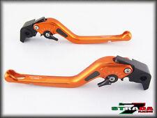Suzuki GSXR750 2011 - 2016 Strada 7 Long Carbon Fiber Inlay Levers Orange