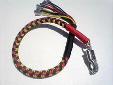 Paracord Get Back Whip with shells size and color you pick from 24 in. to 34 in.