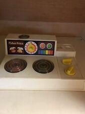 "Vintage 1978 Fisher Price Stove Fun With Food Range Top Burners "" turn on"" GMS"
