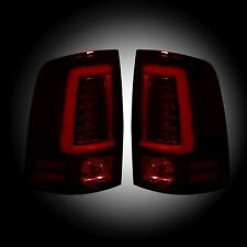 RECON 264369RBK Dodge Ram 1500 09-14 or 10-14 RAM 2500 and 3500 Red-Smoked Tail