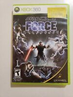 Star Wars: The Force Unleashed (Microsoft Xbox 360, 2008) Video Game W/ Manual