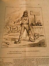 Caricature 1879 - Deux franx 50 par jour Frameries on pourrait s'en contenter