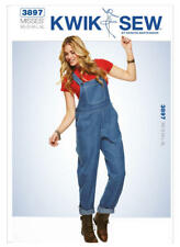 Kwik Sew Sewing Pattern K3897 Misses' Womens Xs - XL Patch-Pocket Overalls