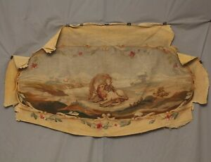 Antique French Renaissance Full Floral Aubusson Sofa Cover Hand Woven | 54X28