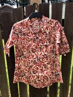 UK Women Summer Floral Cotton Blouse Button Shirt Size S M L XL XXL 3XL 4XL 5XL