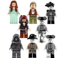 Pirates Of The Caribbean Jack Sparrow Salazar  Mini Figures Use With lego