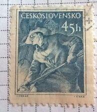 Czechoslovakia stamps - Metallurgist 1954 45 haler - FREE P & P