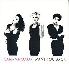 "BANANARAMA  I Want You Back PICTURE SLEEVE 7"" 45 record + juke box title strip"