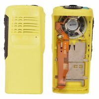 Yellow Replacement Housing Case for Motorola HT750 Portable Radio (Speaker+mic)