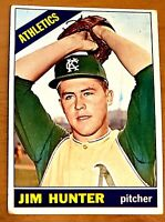 1966 Topps #36 Jim Catfish Hunter  Athletics 1st full card after Rookie Card RC