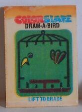 """VINT 1980 """"DRAW-A-BIRD"""" COLOR SLATE SELF ERASING CRACKER JACK PRIZE TOY"""