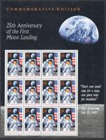 SC#2841 - 29c 25th Anniversary of the Moon Landing Pane of 12 MNH #2