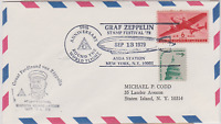LETTRE USA VON ZEPPELIN 50e anni VOL AUTOUR DU MONDE ROUND THE WORLD FLY 1929/79