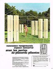 PUBLICITE ADVERTISING 094  1974   KAZED  portes pacard pliantes