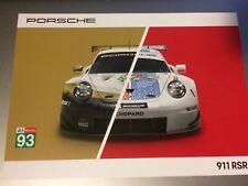 Carte  24 Heures du Mans 2019 Porsche 911 RSR #93