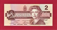 """UNC 2 DOLLARS 1986 CANADA - PREFIX """"ARJ"""" - (P-94a) Sign: J.W. Crow & G.K. Bouey"""
