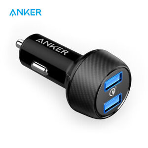 Anker PowerDrive 39W Dual USB Car Charger Quick Charge 3.0 for Android IOS etc