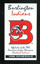 Burlington Indians--1996 Pocket Schedule--Alamance Medical Center