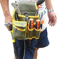 Mechanic Portable Canvas Tool Utility Waist Bag Belt Kit Pocket Pouch Organizer