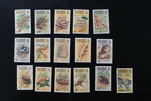 Solomon Islands 1979-1984 VF mint heavy Hinged set to $5 (d026)