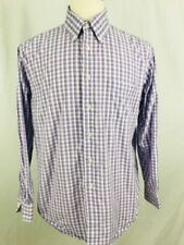 Brooks Brothers Mens Shirt Medium Long Sleeve Button Front Purple Plaid 346 (R
