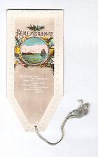 Antique Bookmark Sailing Boat Ship Sea Georgian Birthday Card Poem RP Photo Gift
