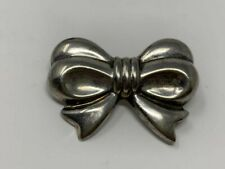 Tie Pendant or Pin Brooch Unique Solid Sterling Silver Bow