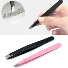 KM_ FP- Useful Professional Eyebrow Tweezers Hair Beauty Slanted Stainless Twe
