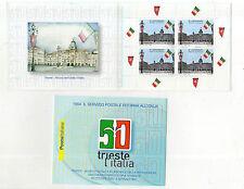 foglietto francobolli libretto anniversario citta di trieste le poste all italia