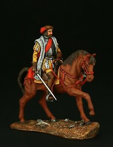 Tin soldier, Collectible, Hernan Cortes on horseback, 54 mm, Medieval