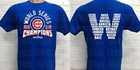 CHICAGO CUBS WORLD SERIES CHAMPIONSHIP DOUBLE SIDED T-SHIRT