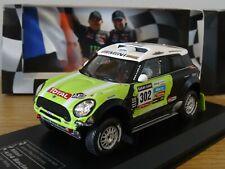 IXO DIREKT MINI ALL 4 RACING 2013 RALLY DAKAR PETERHANSEL CAR MODEL LR27 1:43