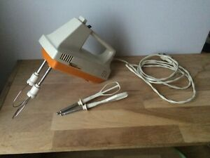 batteur vintage Moulinex, type 274-2-01, blanc et orange