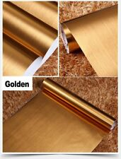 Gold Brushed Contact Paper Vinyl Gloss Self Adhesive Wallpaper Shelf Liner Film