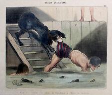 Neufundländer Hund Rettungshund Charivari Original ca 1860 Cham Terre Neuve