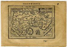 1609 Genuine Antique miniature map of northern Germany. Meldorf area. Ortelius