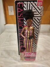 Barbie Fashionistas African American Vitiligo Skin Long Stripe Dress Petite #135