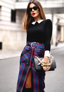Zara Check Pencil Skirt Size X SMALL BNWT
