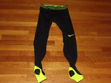 NIKE PRO COMBAT BLACK COMPRESSION TRAINING TIGHTS MENS MEDIUM EXCELLENT COND.