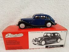 Somerville Models 1/43 Scale 129A - Riley Kestrel - Blue & black trim