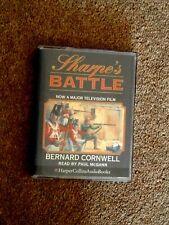 BERNARD CORNWELL - SHARPE'S BATTLE - ( NEW )    AUDIO BOOKS -    ( 2 CASSETTES )