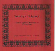 Sotheby's Belgravia- Victorian Paintings, Drawings, & Watercolours Sept 11, 1979