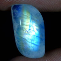 Amazing Natural Blue Fire Moonstone Cabochon Pendant, Ring Size Gemstone JGems01