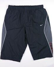 "Mens NIKE Vintage Long Style Shorts Black Grey White XXL uk Waist 42""/44"" GUC"