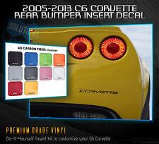 Fit 2005-2013 C6 Chevy Corvette Inserts Rear Bumper Decal - 4D Carbon Fiber
